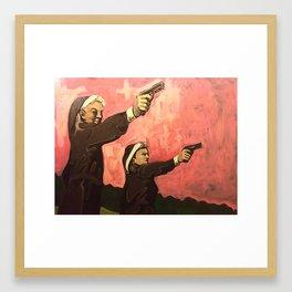 Nuns with Guns Framed Art Print