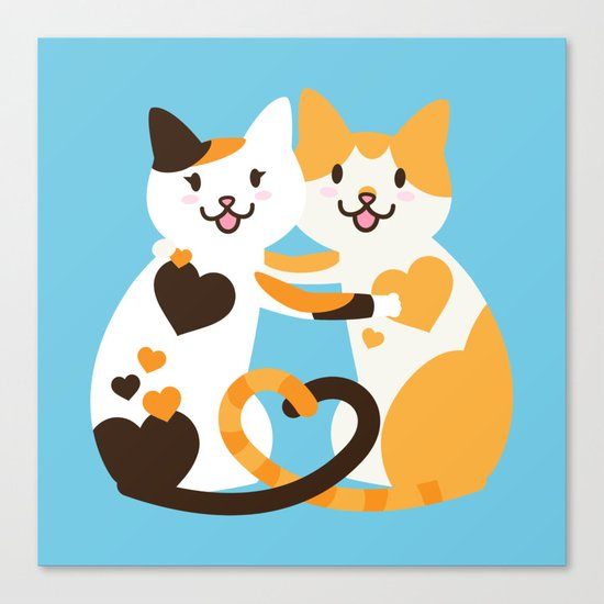 Lovecats Canvas Print