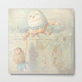 Vintage Humpty Dumpty Metal Print