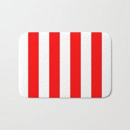 Australian Flag Red and White Wide Vertical Beach Stripe Bath Mat