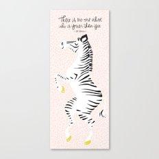 Pink Zebra (Dr. Seuss quote) Right Canvas Print