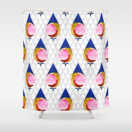 048 birdie kisses the sweet morning raindrop pattern Shower Curtain