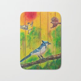 Three Little Birds Bath Mat