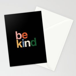 be kind colors rainbow Stationery Cards