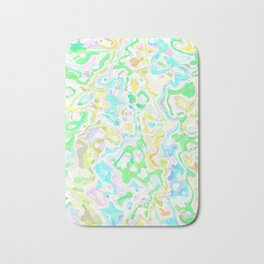 Blue, Yellow, and Green Marbled Bath Mat