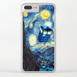 Tardis Doctor Who Starry Night Clear iPhone Case