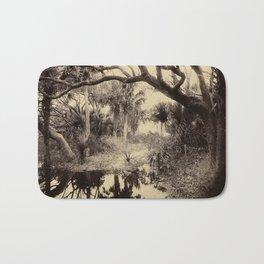 Live Oaks And Palmetto Everglades Florida 1886 - Vintage Photo By George Barker Bath Mat
