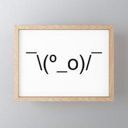 I Dunno LOL Emoticon ¯\(º_o)/¯ Japanese Kaomoji Framed Mini Art Print