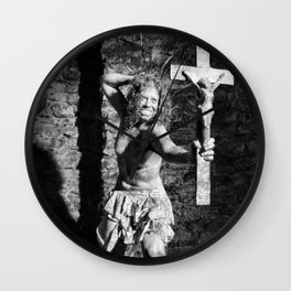 Naked Exorcist by MB Wall Clock