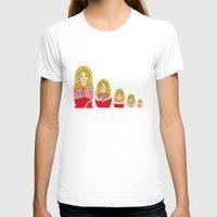 burlesque T-shirts featuring Blonde Burlesque stripper doll by Yana Elkassova