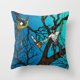Tree Surgeons Throw Pillow