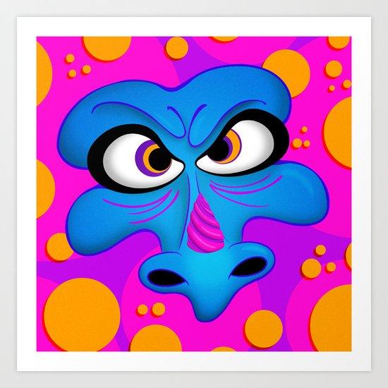 The Blue Dragon Art Print