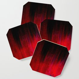 Red and Black Abstract Coaster