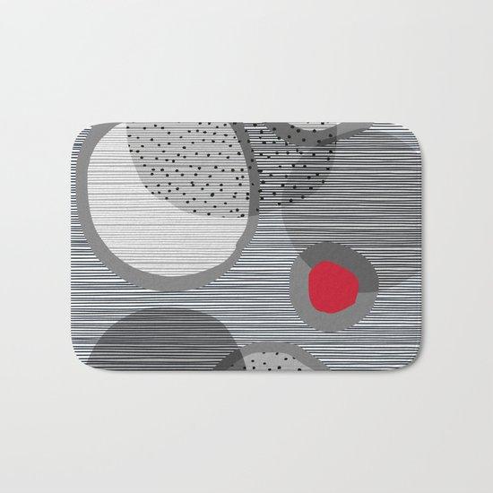 the red dot Bath Mat