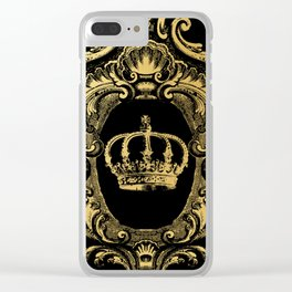 Gold Crown Clear iPhone Case