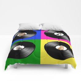 Hey Cat Pop Art Comforters