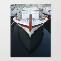 boat Canvas Prints featuring boat by habish