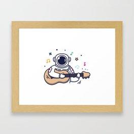 Musical Astronaut Framed Art Print