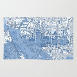 Washington DC Map Rug