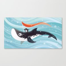 Grandpa Orca Canvas Print