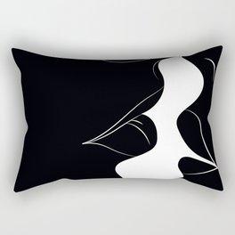 Just a Little Kiss - Black Rectangular Pillow