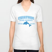 iwatobi V-neck T-shirts featuring Iwatobi - Dolphin by drawn4fans