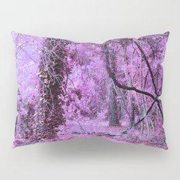 Fantasy Tree Landscape: Orchid Pink Purple Pillow Sham