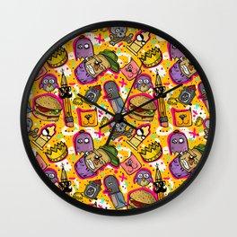 Graffiti texture Wall Clock