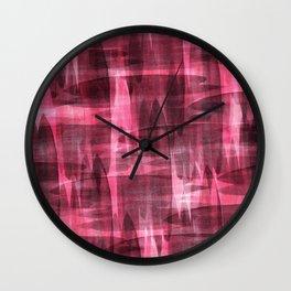 Abstract watercolor pattern. Wall Clock