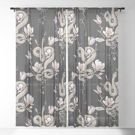 Magnolia and Serpent Sheer Curtain