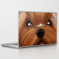 yorkie Laptop & iPad Skins featuring Yorkie face by Mario Laliberte
