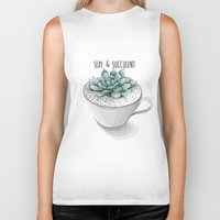 succulent Biker Tanks featuring Sexy Succulent by wildpink