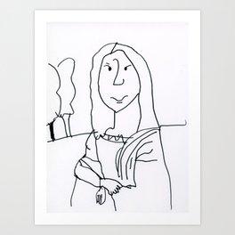 Caden's Mona Lisa Art Print