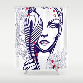 Goddess Isis Shower Curtain