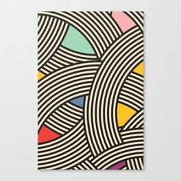 Modern Scandinavian Multi Colour Color Curve Graphic Canvas Print