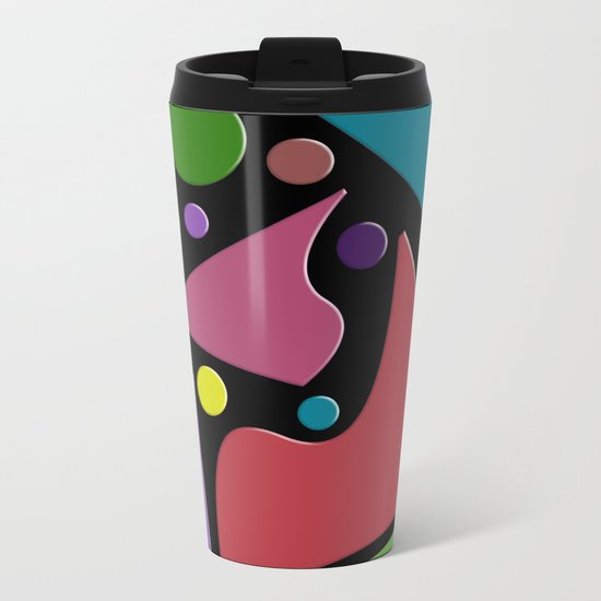 Abstract #307 Metal Travel Mug