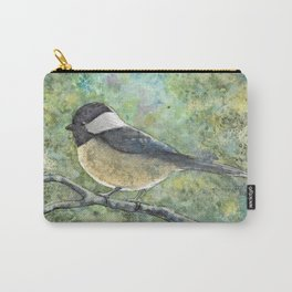 Watercolor Chickadee Carry-All Pouch