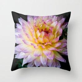 Dahlia Debutante Throw Pillow