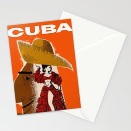 Vintage Travel Ad Cuba Stationery Cards