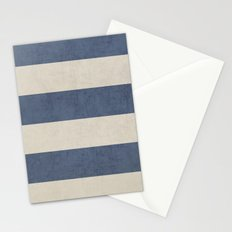 vintage dark blue stripes Stationery Cards