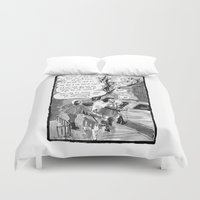 conan Duvet Covers featuring Cromic #2 - Remember that time... by Rachel Kahn