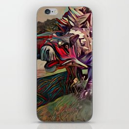 Dinosaurus painting iPhone Skin