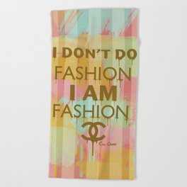 Fashion Typography Beach Towel