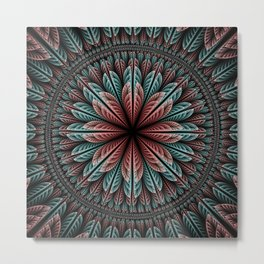 Fantasy flower and petals IV Metal Print