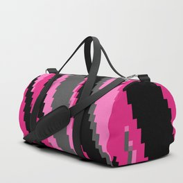 Pink black and gray zigzag Duffle Bag