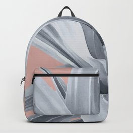 Grey Leaves. Tropical pink Backpack