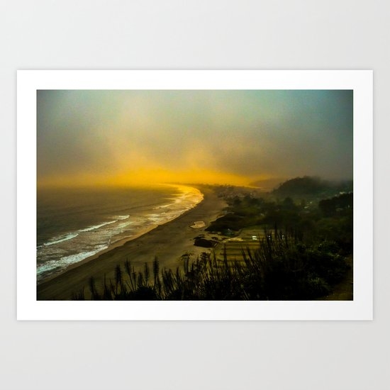 The evening as seen from the bluff  Art Print