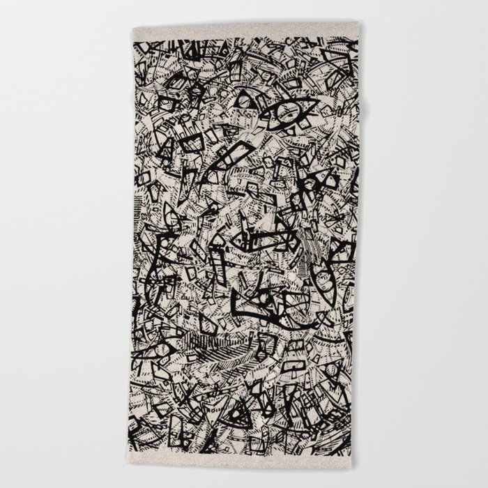 - newspaper - Beach Towel