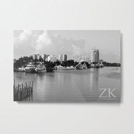 Ft. Lauderdale Docks Metal Print