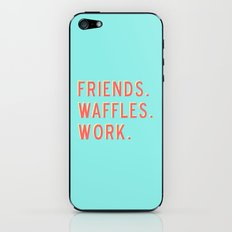 PARKS AND REC FRIENDS WAFFLES WORK iPhone & iPod Skin